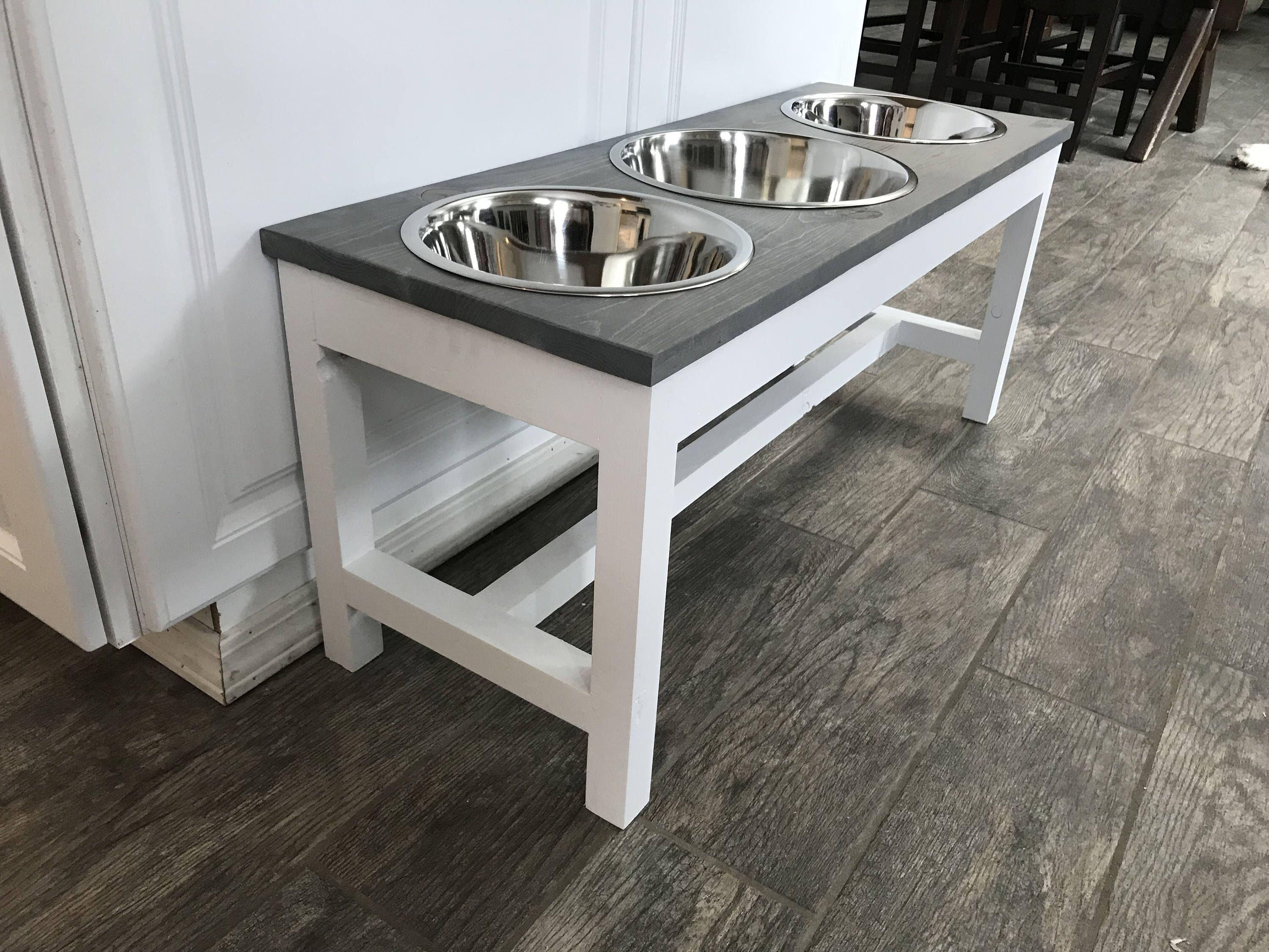 Excited To Share The Latest Addition My Etsy Farmhouse Style Raised Triple Dog Feeder Bowl Stand Elevated Dish