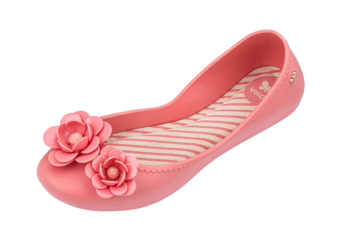 1df57198183 Zaxy Start Blossom Pink Flower Flat Ballet Shoes