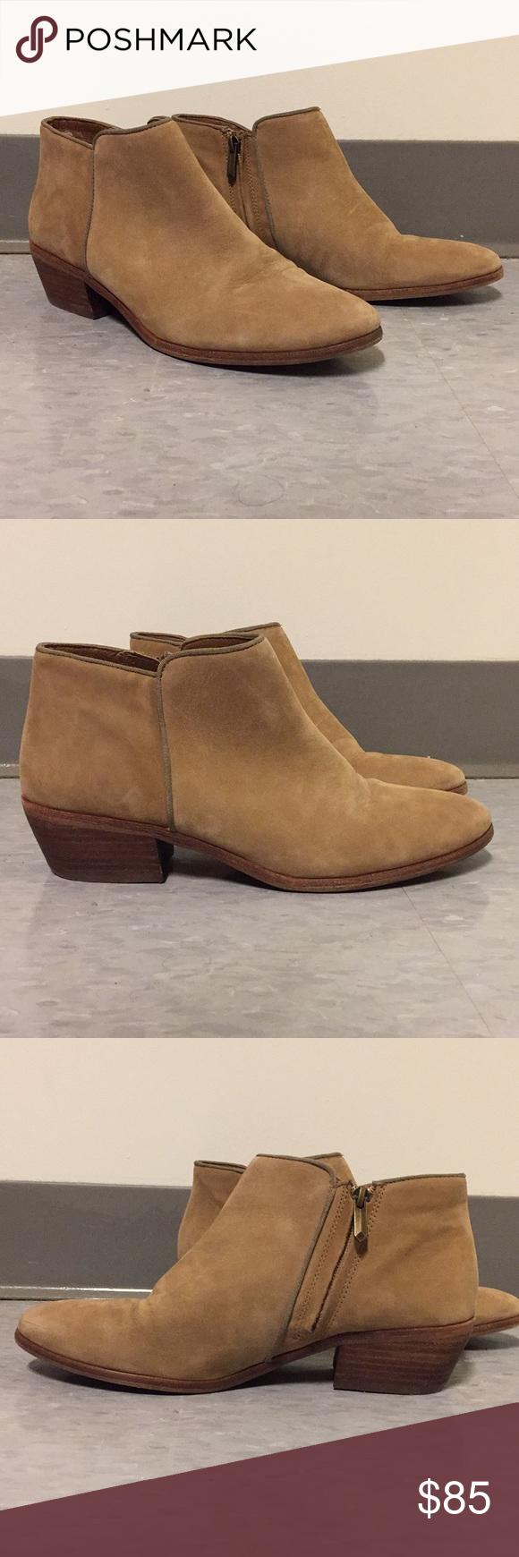 31dd2cfabcb151 Sam Edelman Petty Ankle Boot Honey Nubuck Leather