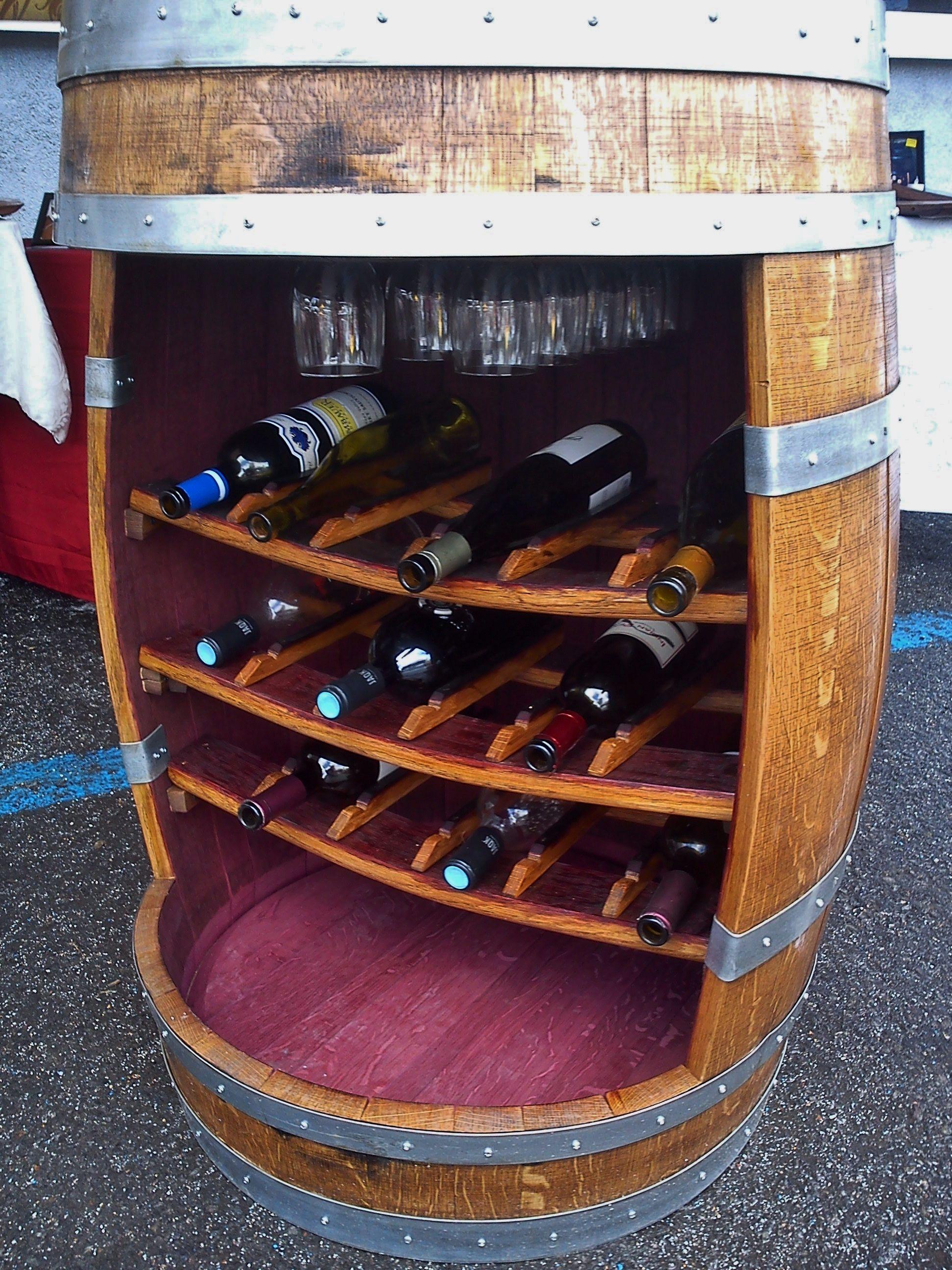 Wine Bottle And Glassware Display Barrel Visit Barrelgiftscom
