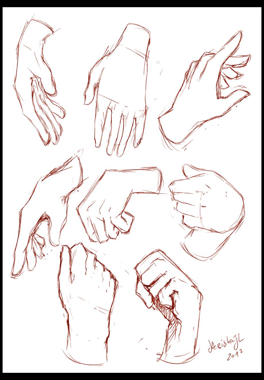 easy hand drawings