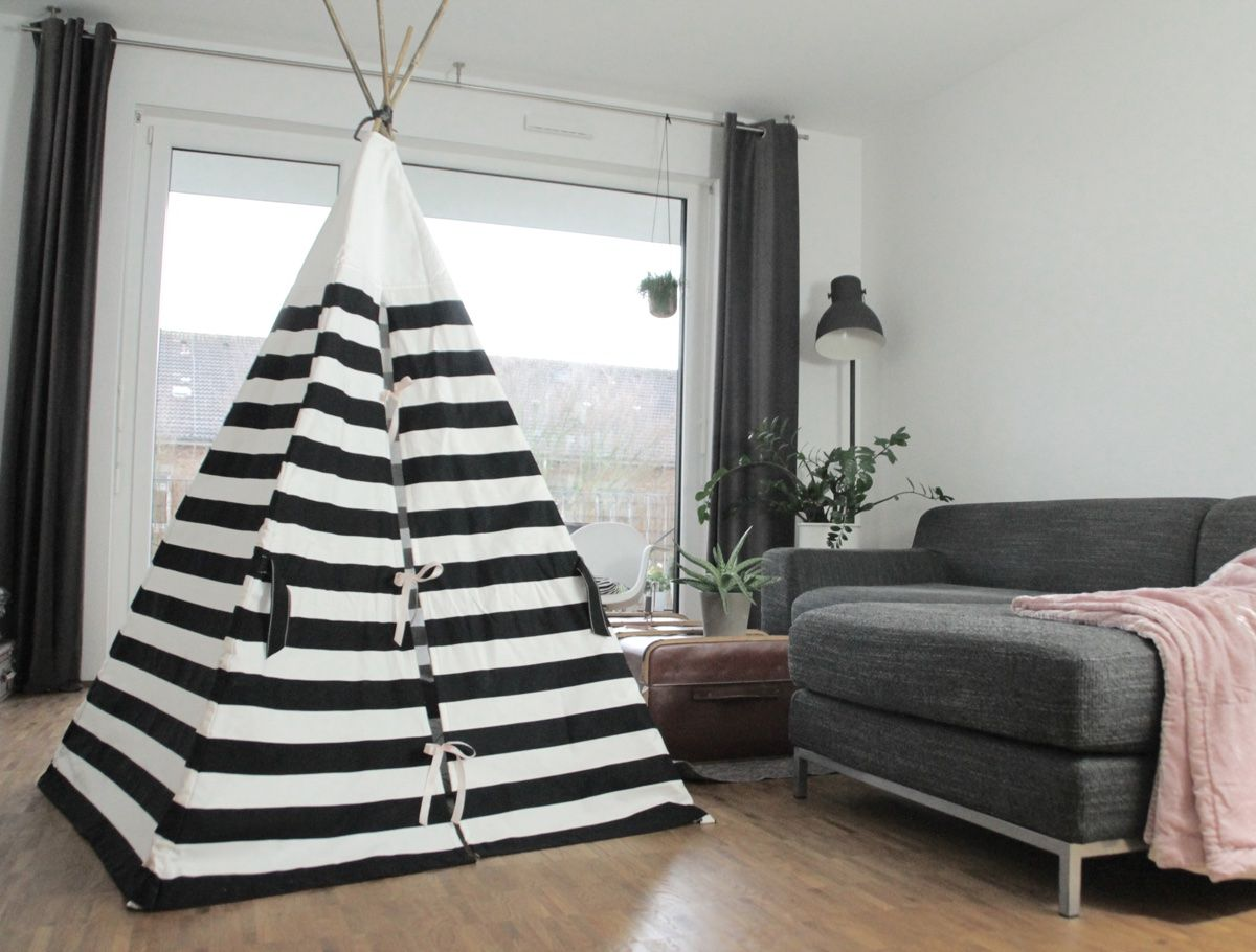 tipi geschlossen pok j dla leo diy tipi diy und tipi. Black Bedroom Furniture Sets. Home Design Ideas