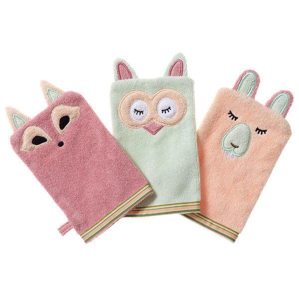 Baby Bath Mitt Wash Puppet Terrycloth Glove Free Matching Tub Toy CHOOSE