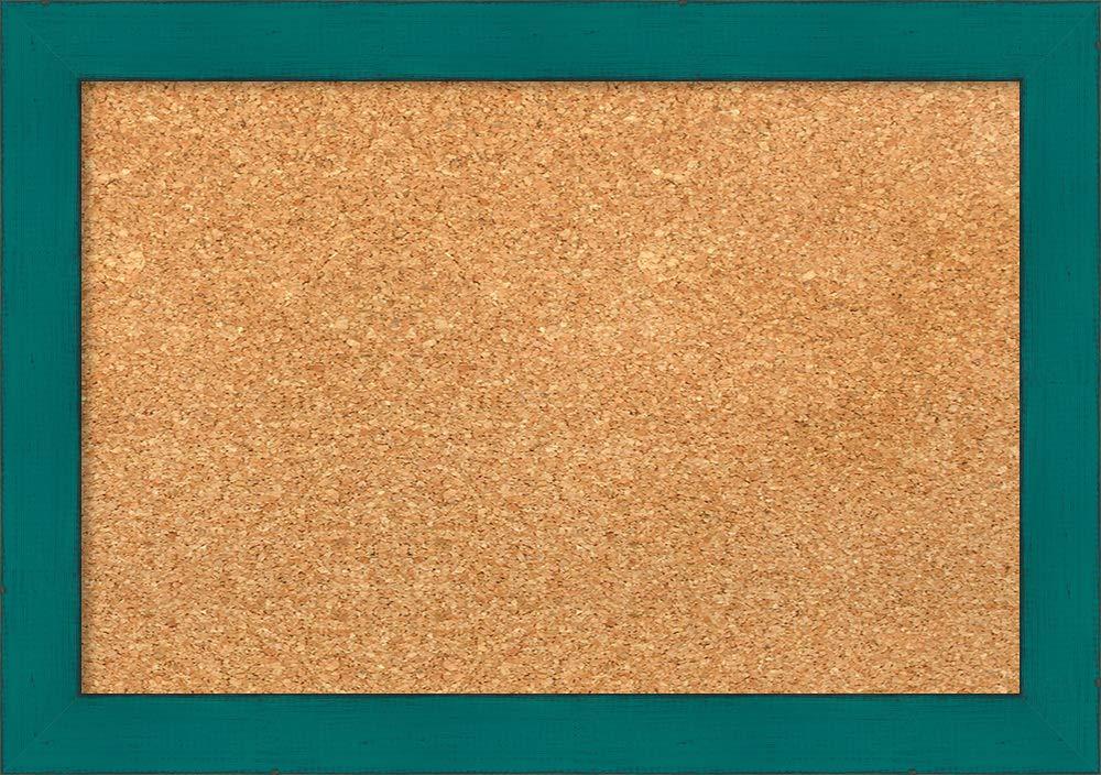 Amazon Com Framed Natural Cork Board Bulletin Board Natural Cork Boards French Teal Rustic Frame Framed Bulletin Boards Rustic Frames Cork Board Rustic