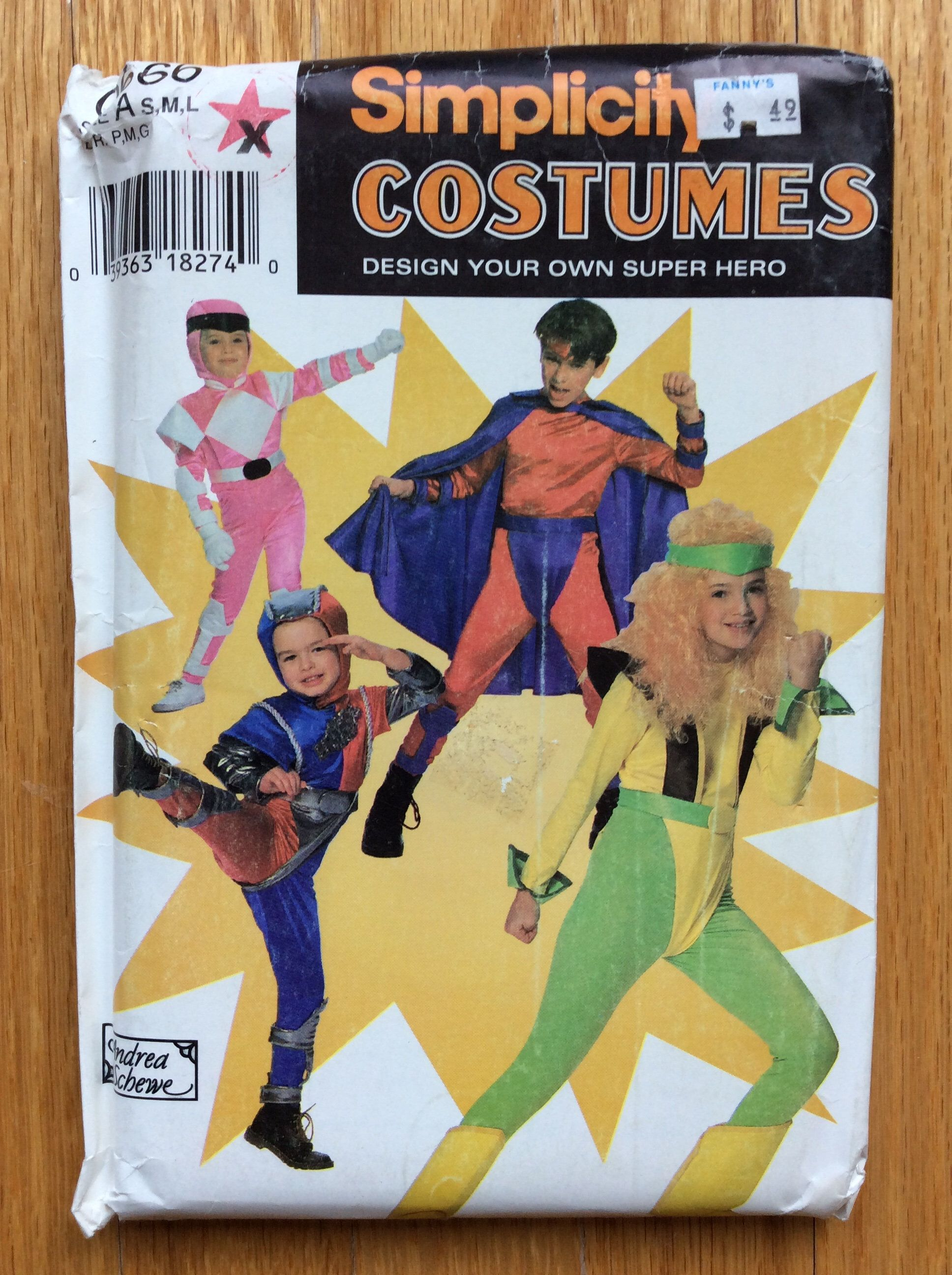 Super Hero Costumes Pattern Design Your Own Children S