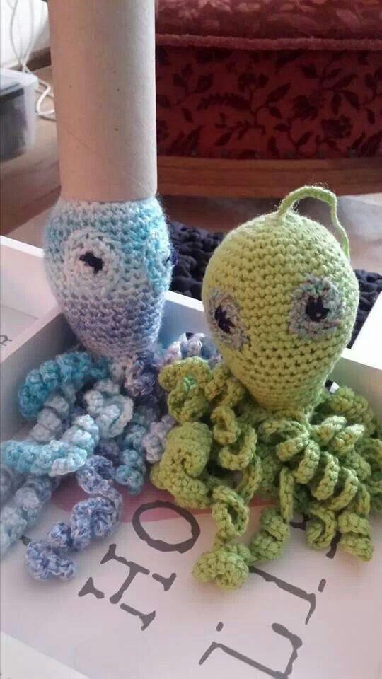 Twee inktvisjes gemaakt door diny