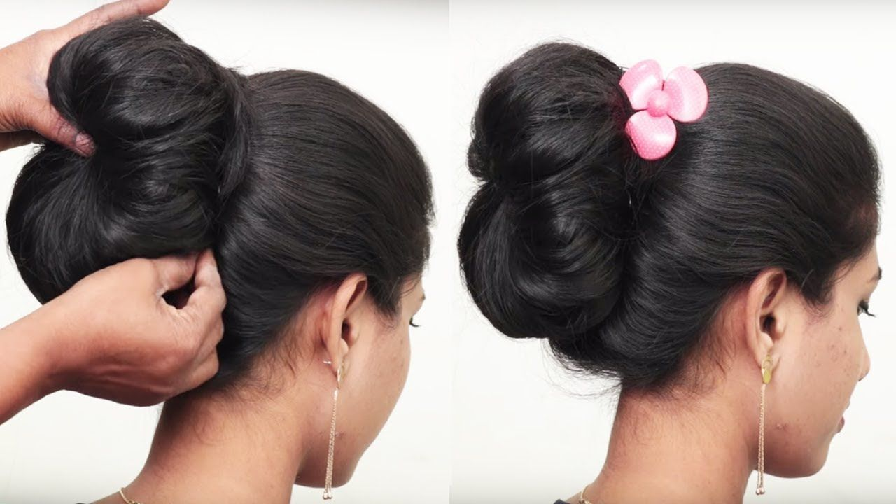 How to do bridal bun hairstyle for long hair easy updo hairstyle