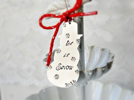 Christmas Ornament Snowman Ornament 2016 by Unique2chicdesigns