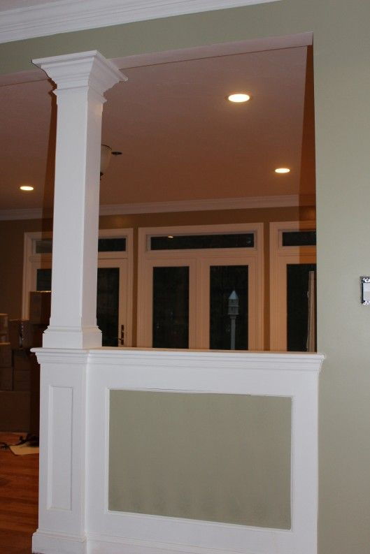 Half wall column for the home pinterest half walls for Columns inside house