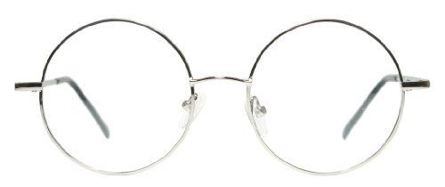 f7d3d2fa73b1 Full Rim Metal Round Eyeglasses Frame (Large Size) Silver Tinetto.  9.98.  Save