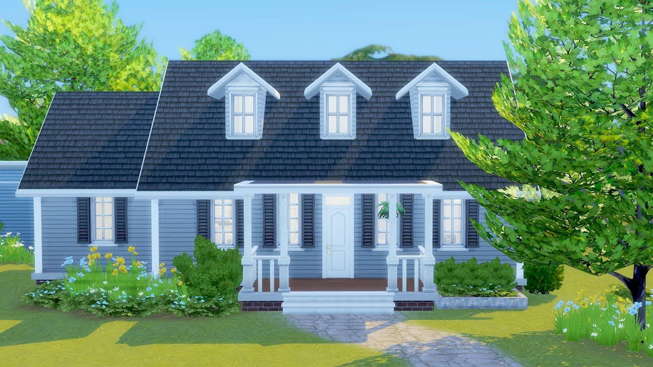 Building A 100 Baby Challenge Starter Home In The Sims 4 Sims 4 Sims 4 Houses Starter Home