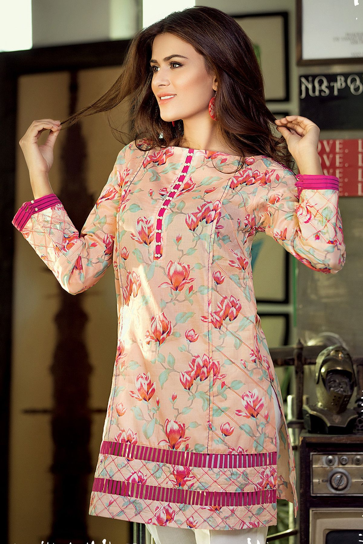 Gul Ahmed Digital Printed Summer Lawn Dresses & Kurtis Designs 20172018 (2) is part of lawn Design 2018 - Loading    Comments comments