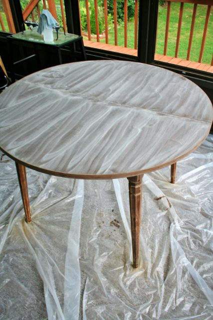 Refinish Teak Veneer Table