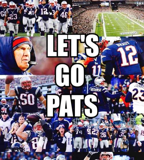 Gameday. The opportunity for ultimate glory awaits. Got to do it. #LetsGoPats (pic from new-yorkbozo)