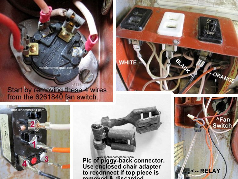 6261840 Fan Switch Conversion Instructions Mobile Home Repair Mobile Home Repair Switch Mobile Home