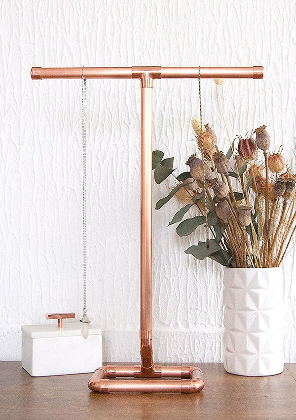 Copper Pipe Furniture copper pipe jewellery stand for necklaces | jewelry stand, pipes