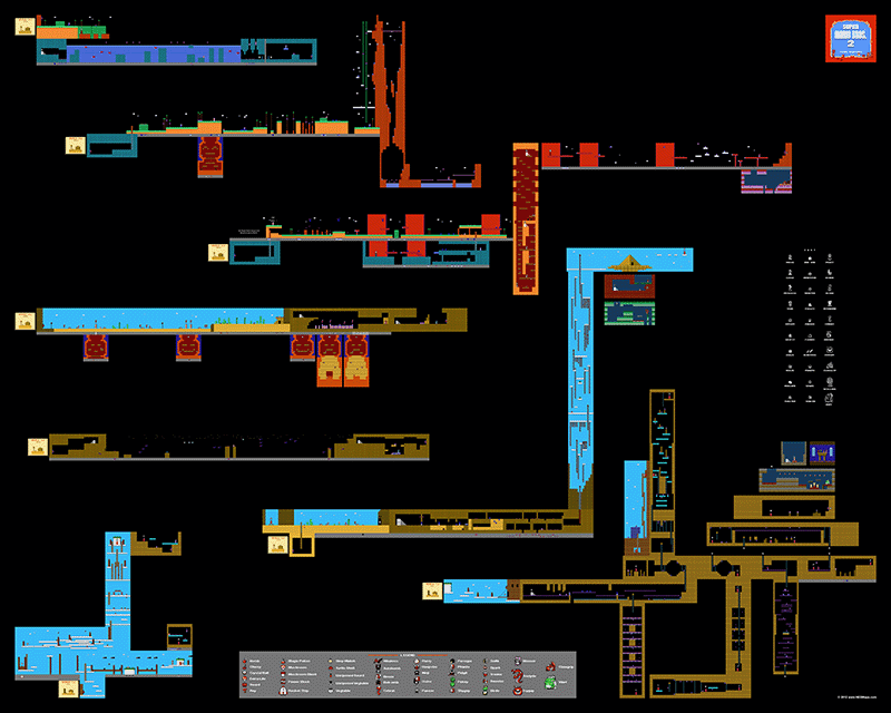 Super mario bros 2 part 2 poster map 30 x 24 for the nintendo super mario bros 2 part 2 poster map 30 x 24 for the gumiabroncs Gallery