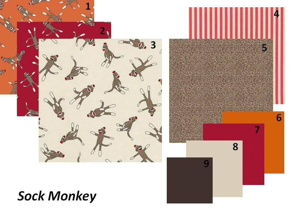 Baby Boy Crib Bedding Sock Monkey Custom Set. $180.00, via ...