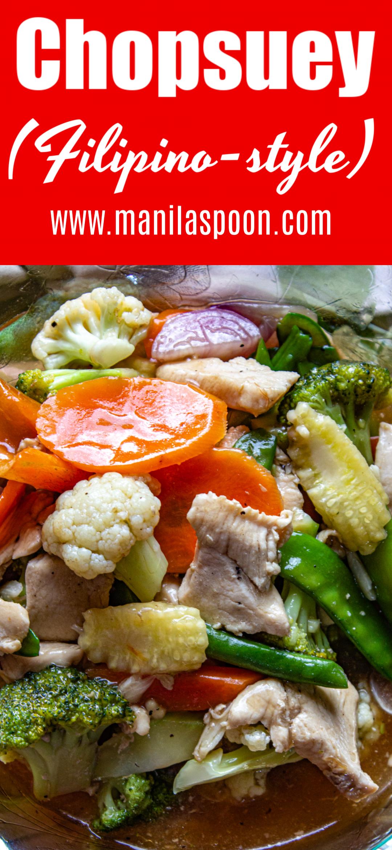 Photo of How to Cook Chopsuey – Manila Spoon