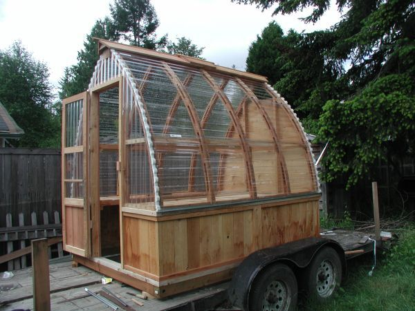 Cedar Frame Green House Garden Shed Greenhouse Backyard