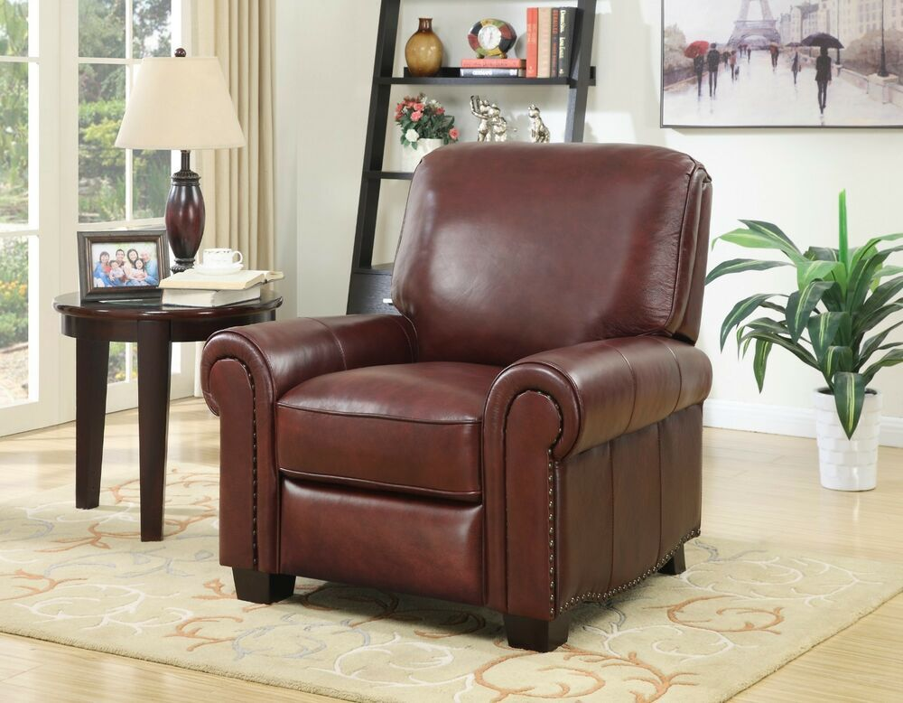 Top Grain Quality Leather Recliner Brown Ebay Furniture