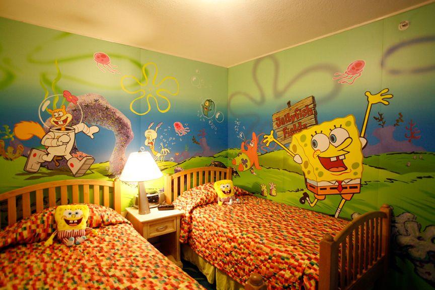 Spongebob Themed room at the Nickelodeon Hotel and Resort Good