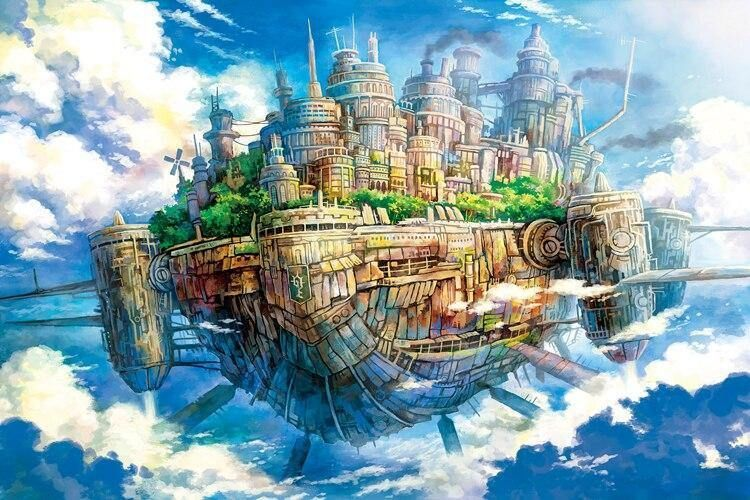 Photo of 1000 Pieces Flying Castle Jigsaw Puzzle – Flying castle