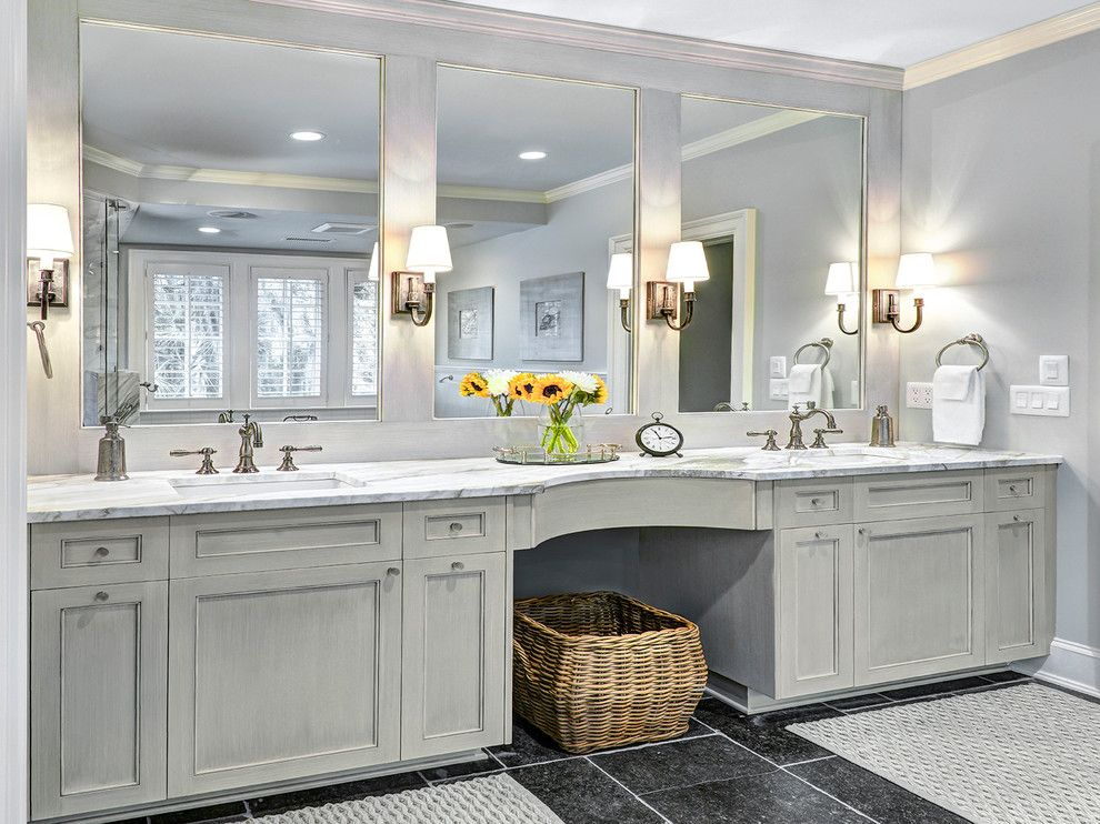 light gray cabinets bathroom traditional remodeling ideas with gray vanity bath mats towel ring - Bathroom Remodel Mirrors