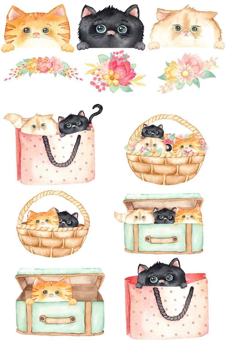 29+ Cute cat clipart png ideas in 2021