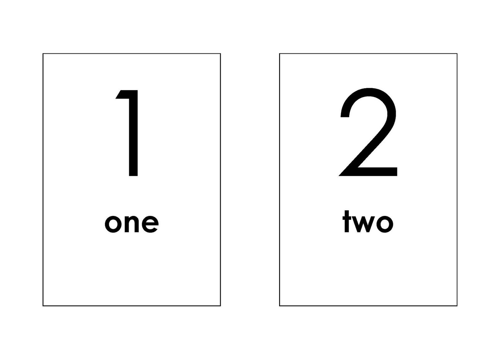 Numberflashcardstemplate School Ideas Pinterest Teaching