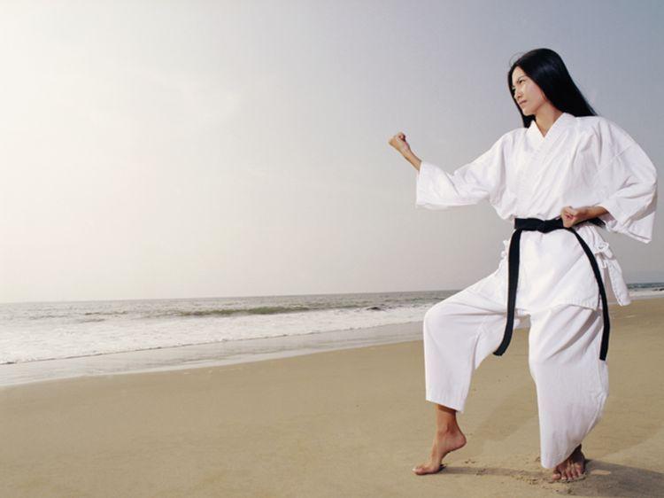 Japonais guerrier samouraï soleil homme karaté arts martiaux kung fu chine t shirt