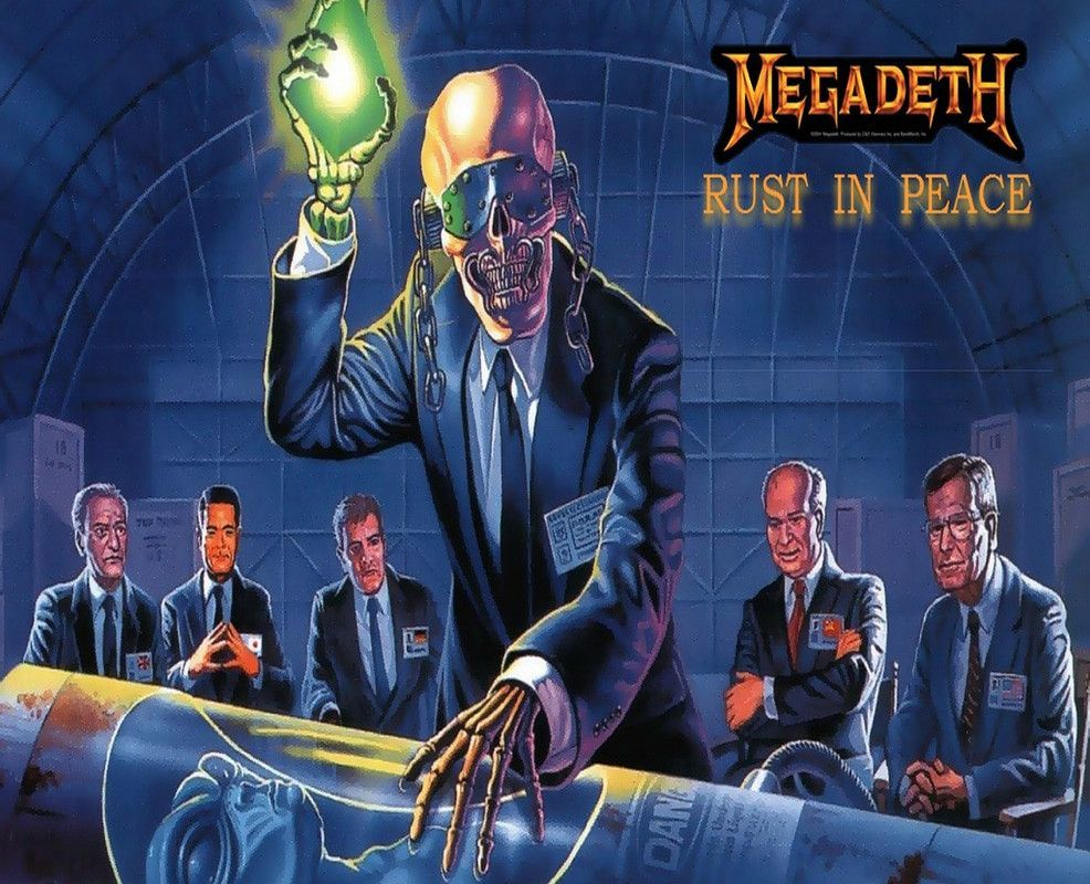 Megadeth Rust In Peace Mouse Mat Products Megadeth Rust In