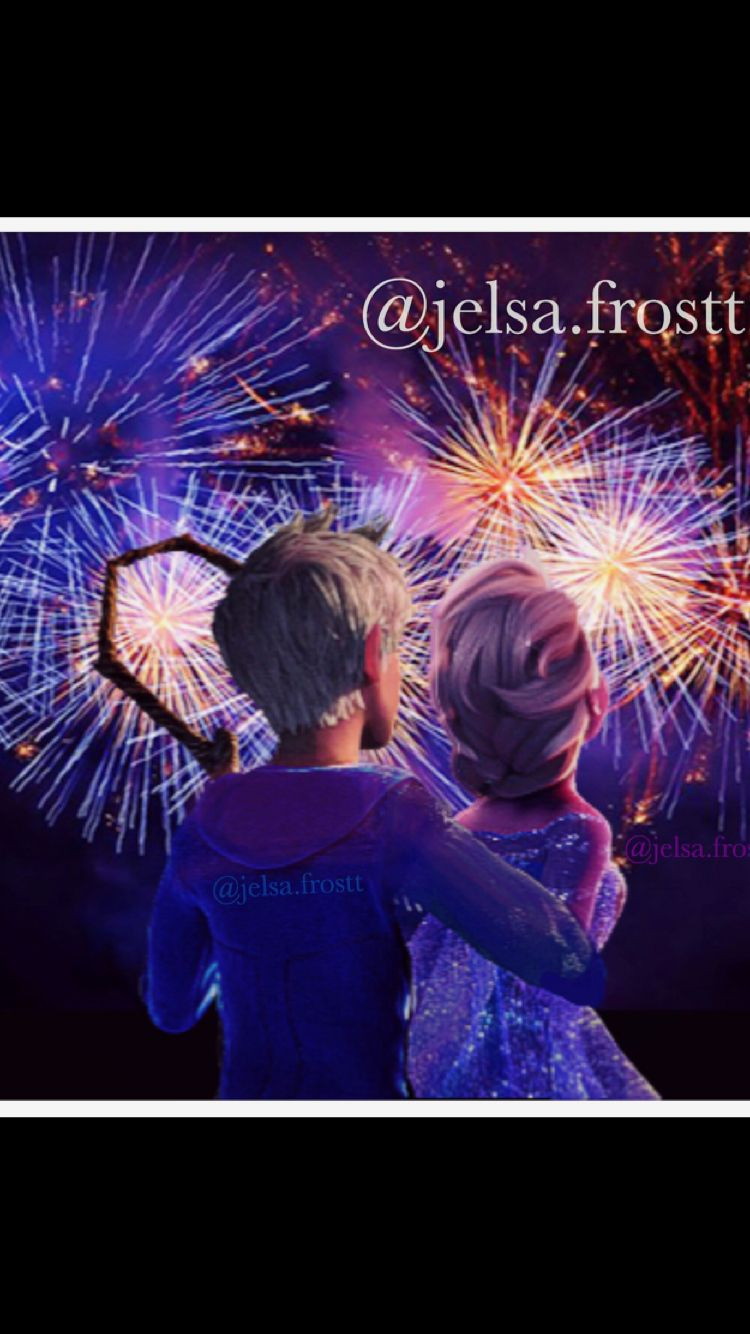 happy new year jack frost and elsa by jelsafrostt
