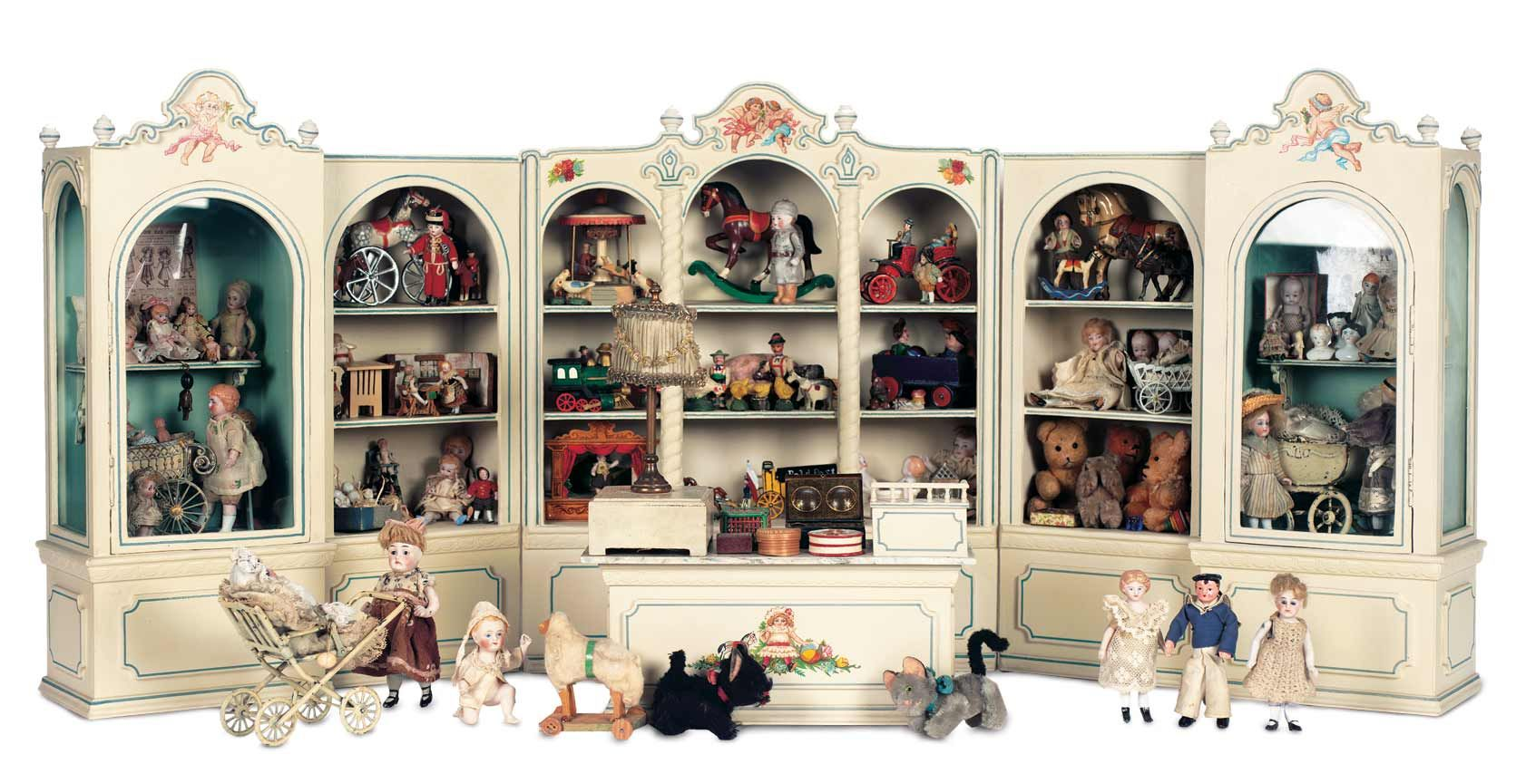 Puppen Spielzeug Museum 1 Wooden Miniature Toy Shop Filled With