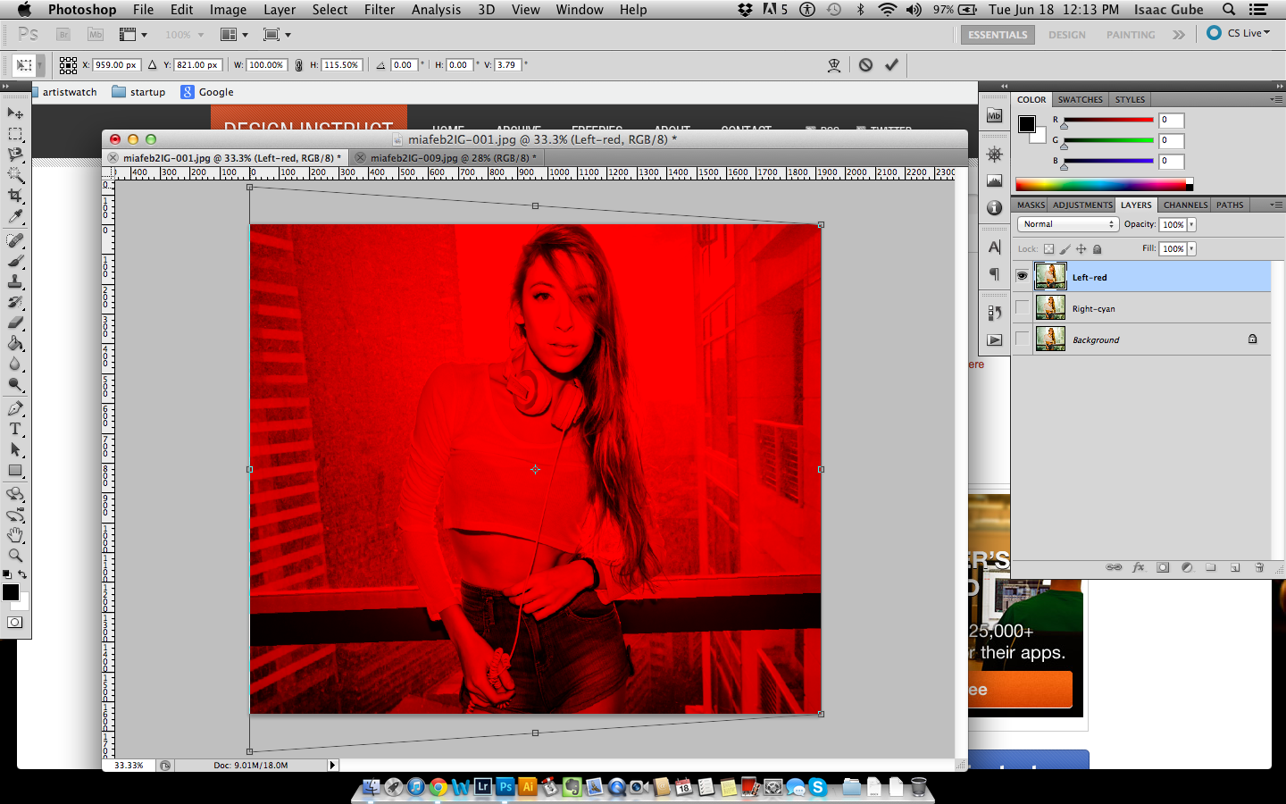 How to Create 3D Anaglyph Images in Photoshop