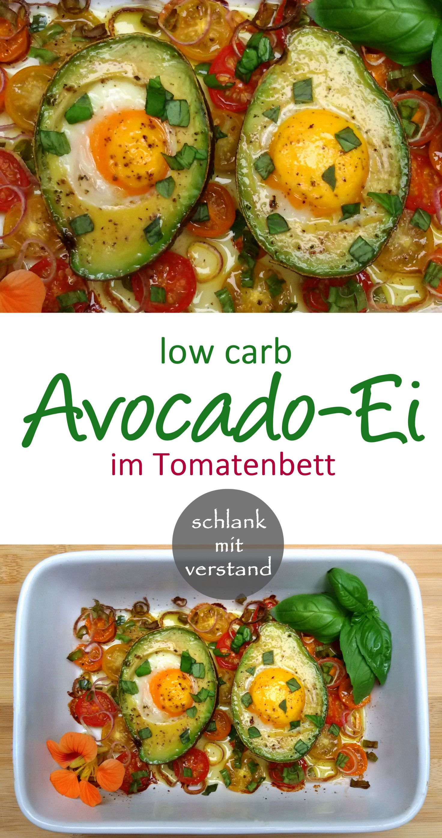 Photo of Avocado egg in tomato bed low carb