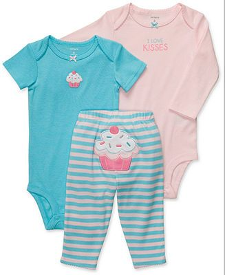 NEW NWT Girls Carters Lady Bug 3 Piece Set 12 Months Bodysuits Pants Princess