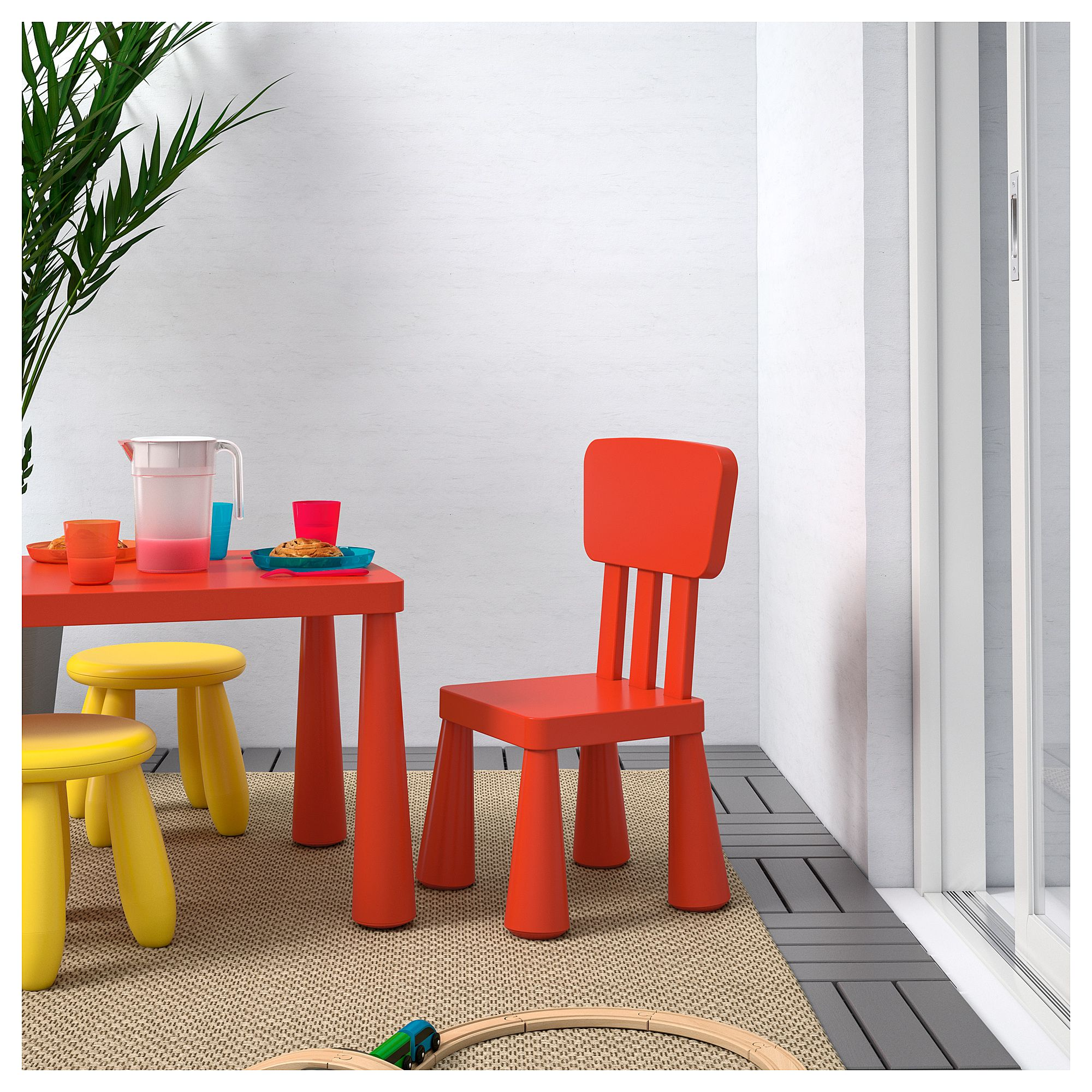 Tremendous Ikea Mammut Childrens Chair Indoor Outdoor Red Caraccident5 Cool Chair Designs And Ideas Caraccident5Info