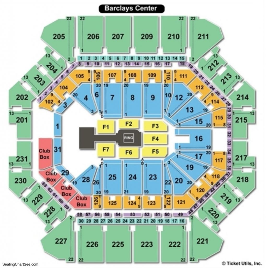 barclays center seating chart concert