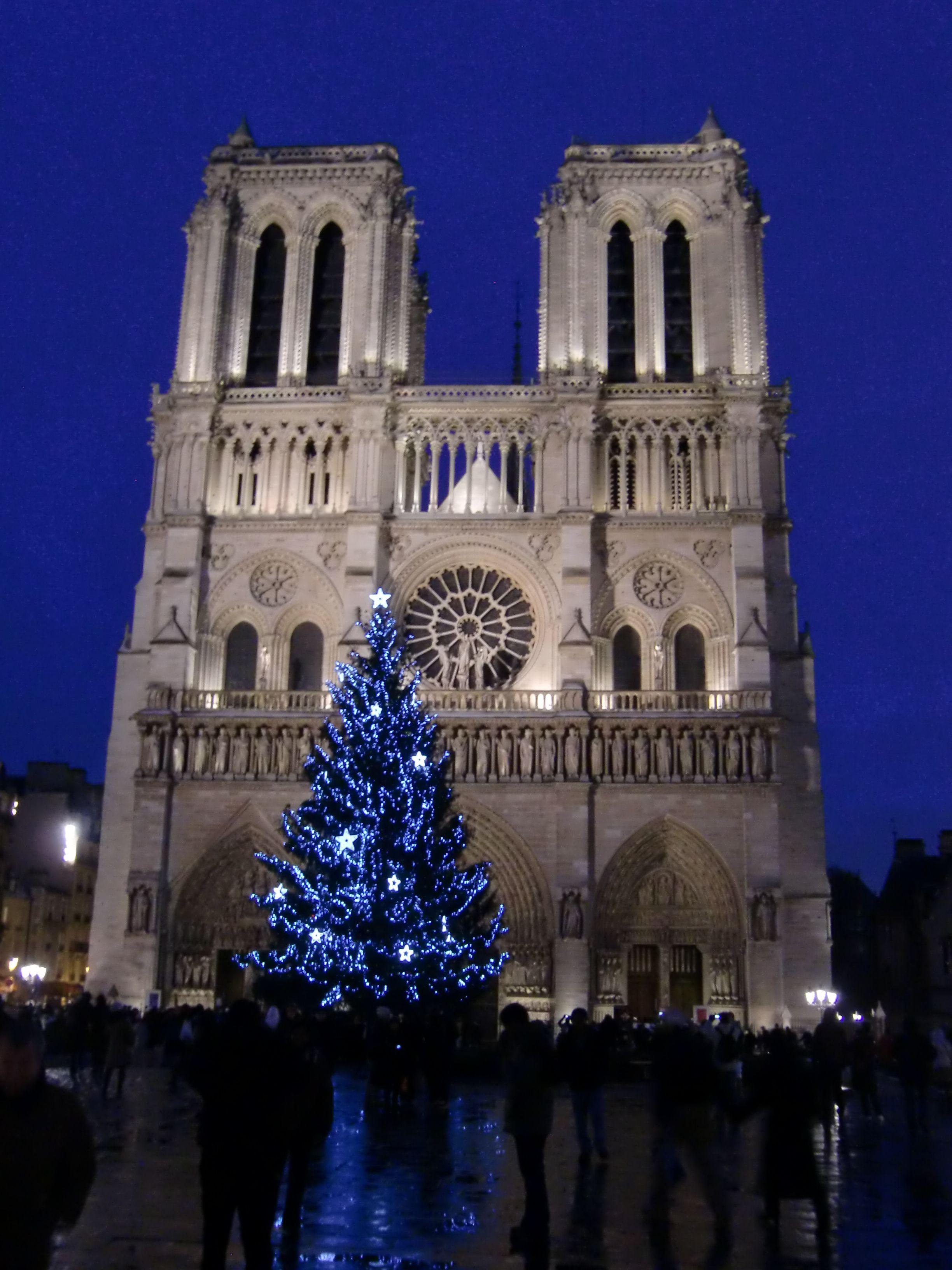 Notre Dame, Paris Christmas decoration   Paris is always a good idea ...