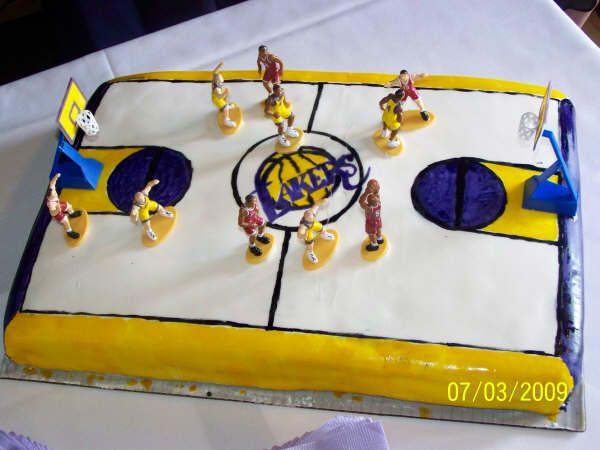Tylerr S Lakers Grooms Cake