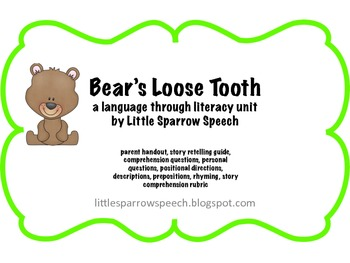 Bear S Loose Tooth Craftvity Loose Tooth School Fun Writing