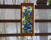 Wind Chime, Beach Glass, Sea Glass, Stained Glass, Copper