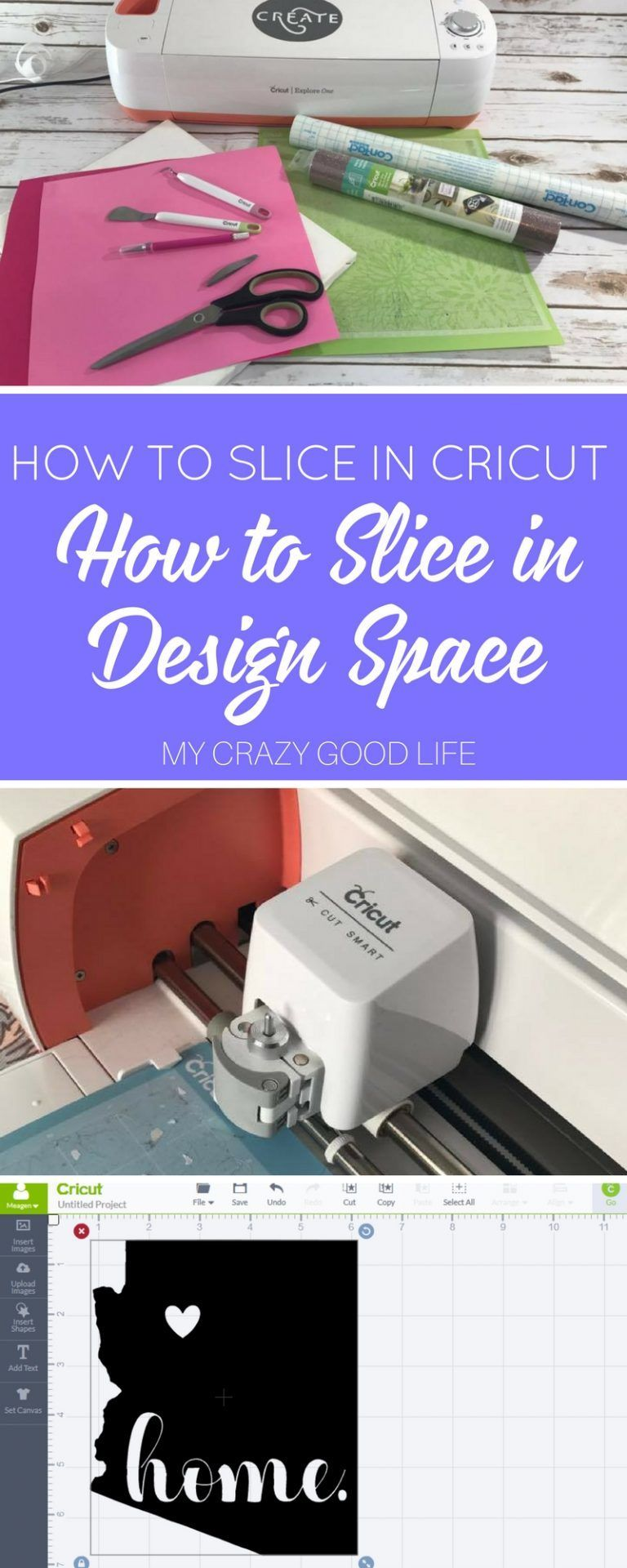 How To Slice In Cricut How To Slice In Design Space Cricutcrafts If You Are New Or If You Just Aren T Sure Scrapbooking Ideen Cameo Plotter Schneideplotter