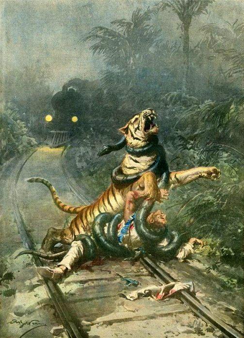 z- Tiger, Snake, Train -vs- Man- 'La Domenica del Carriere'
