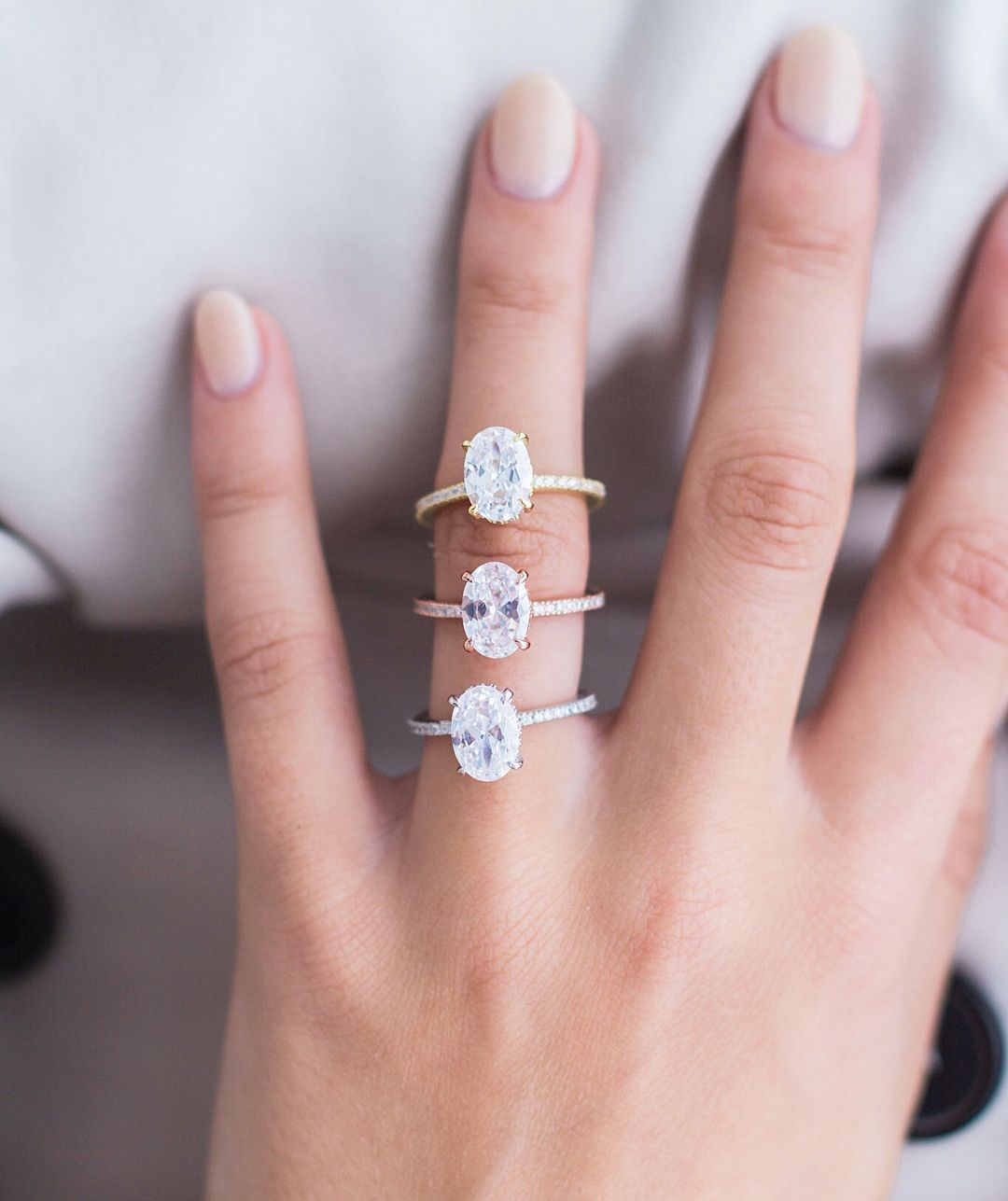 Are you a rose or yellow gold girl? Visit both versions of our oval ...