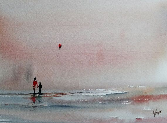 WATERCOLOR ORIGINAL Painting Original Watercolor by pinetreeart