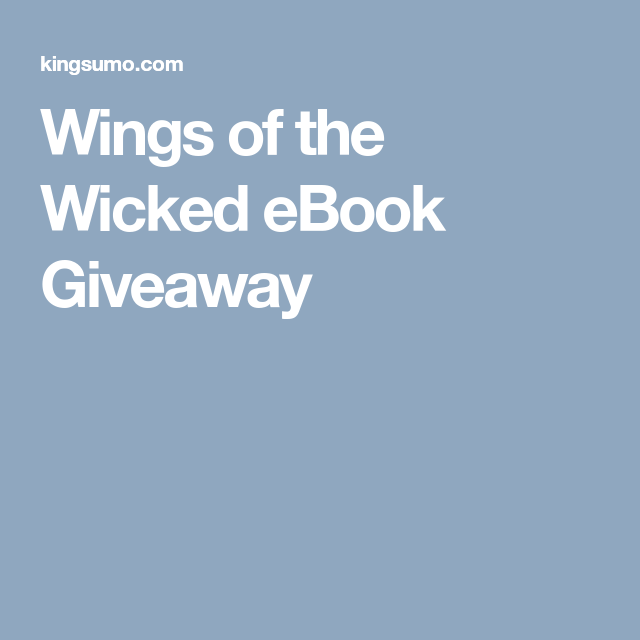 Wicked Ebook