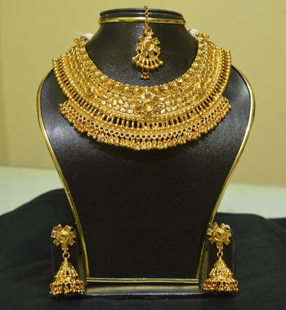 South Indian Traditional Jewellery Gold Plated New Design Necklace ...