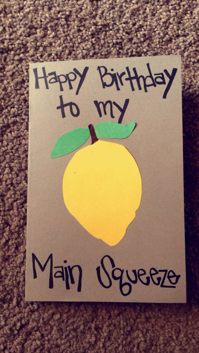 Home Made Card For Boyfriend Birthday Gifts For Boyfriend Diy Diy Birthday Card For Boyfriend Birthday Cards Diy